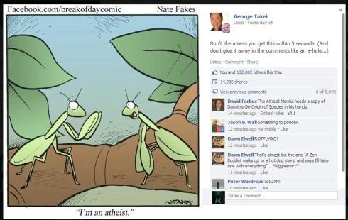 Atheist Praying Mantis GT