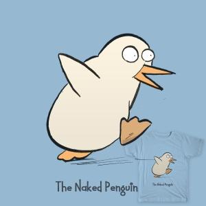 The Naked Penguin t-shirt