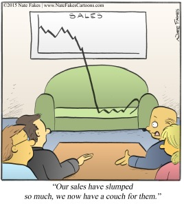 Sales Slumped Couch